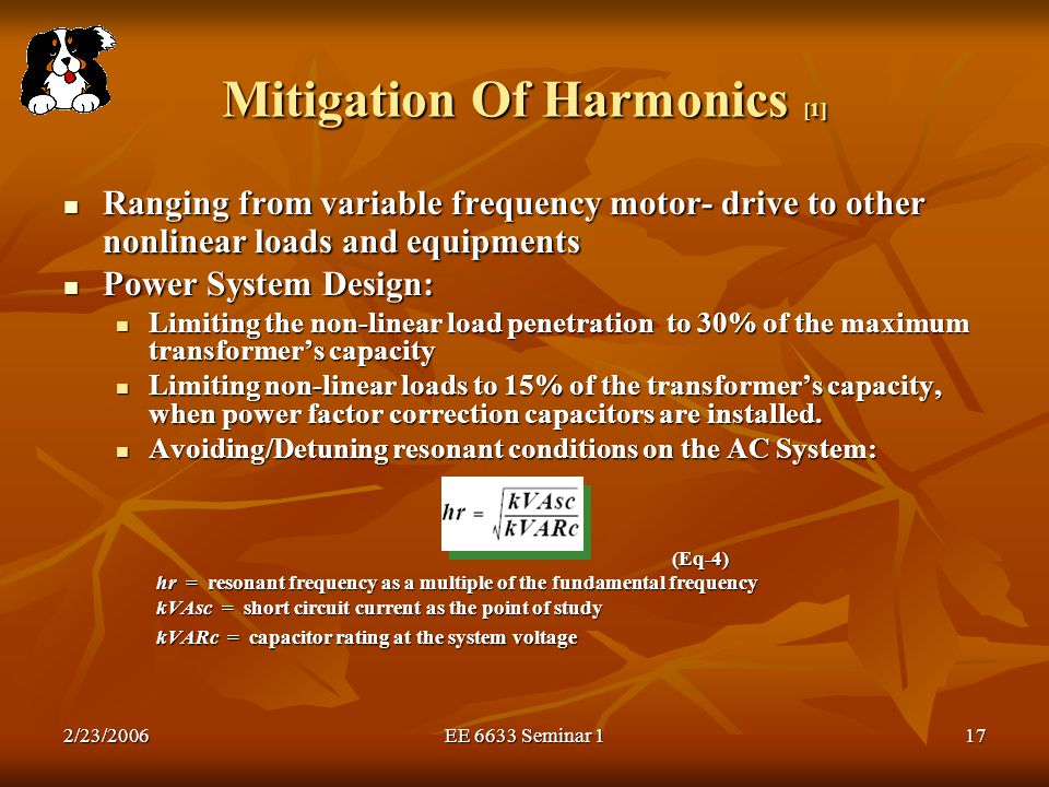Mitigation Of Harmonics [1]