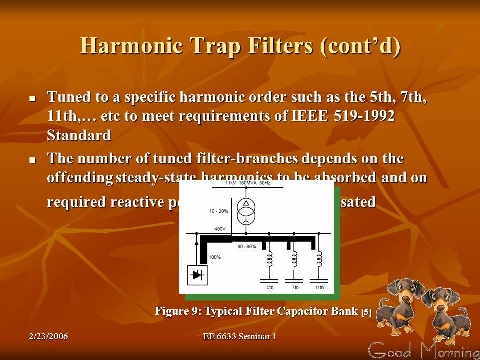 Harmonic Trap Filters (cont'd)