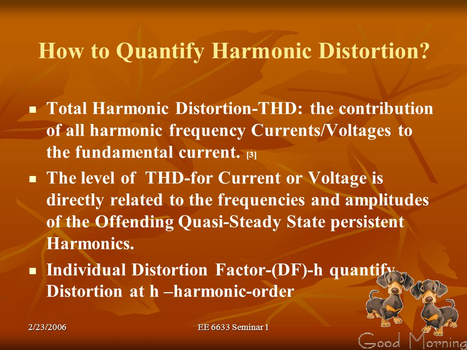 How to Quantify Harmonic Distortion