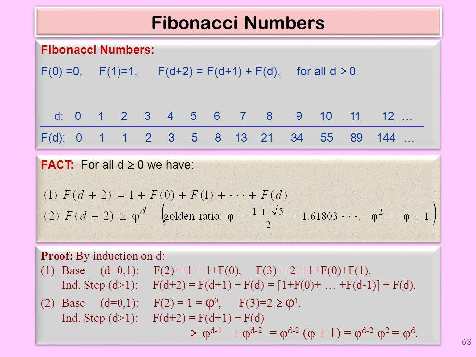 Fibonacci Numbers Fibonacci Numbers: