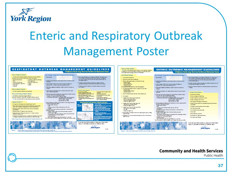 Enteric and Respiratory Outbreak Management Poster