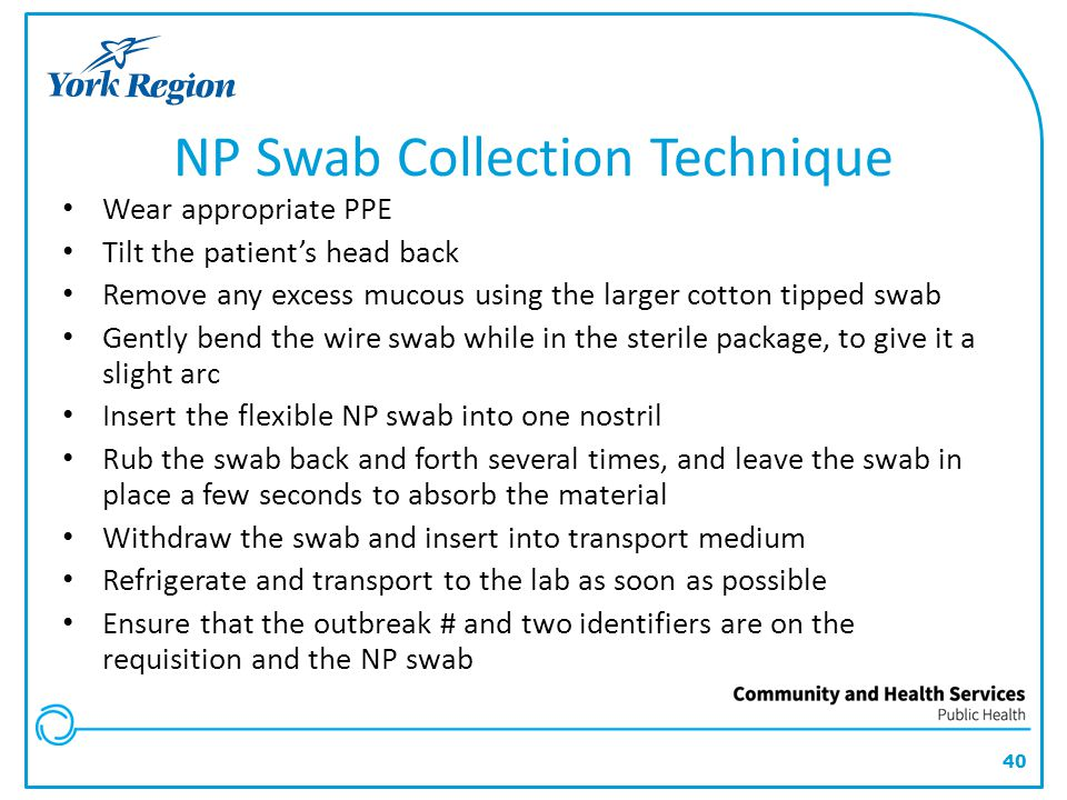 NP Swab Collection Technique