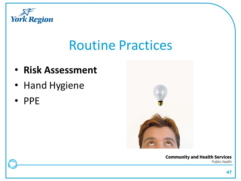 Routine Practices Risk Assessment Hand Hygiene PPE