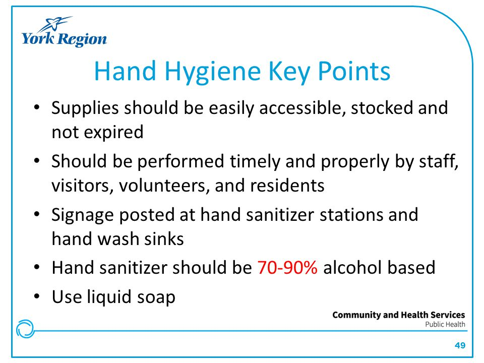 Hand Hygiene Key Points