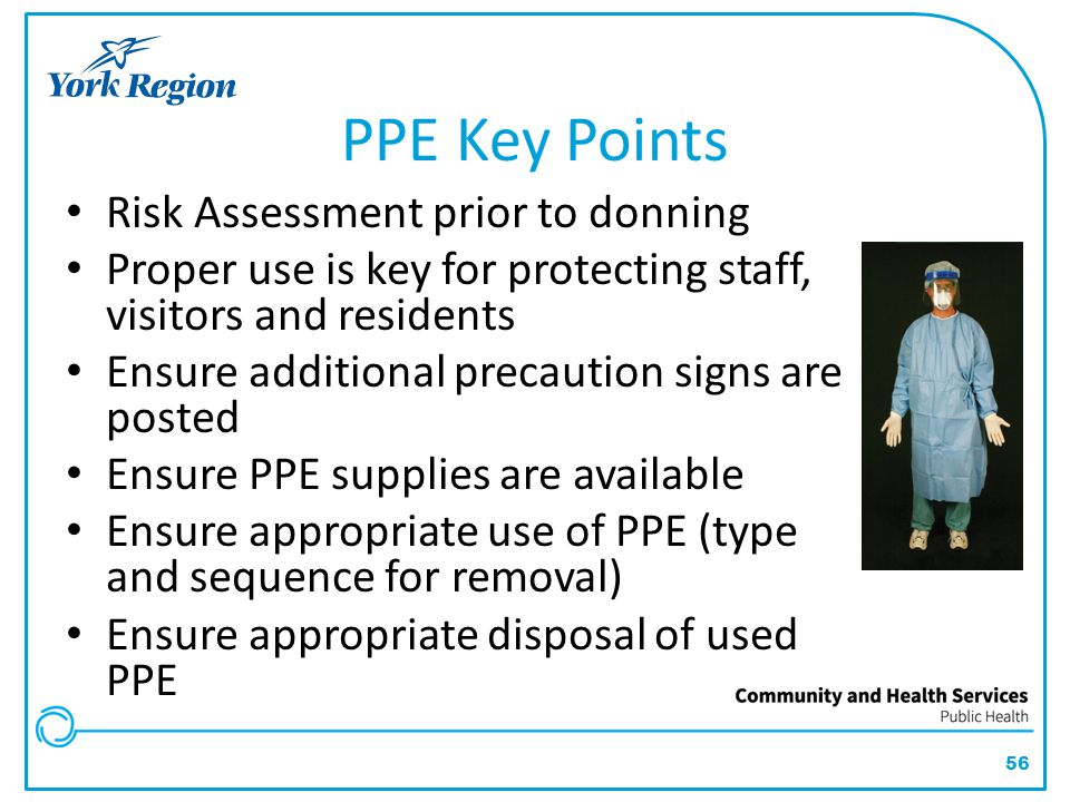 PPE Key Points Risk Assessment prior to donning