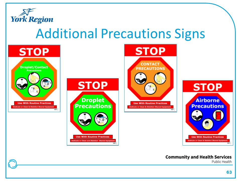 Additional Precautions Signs