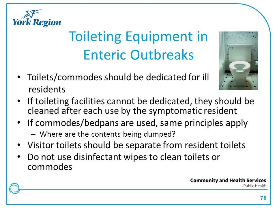 Toileting Equipment in Enteric Outbreaks