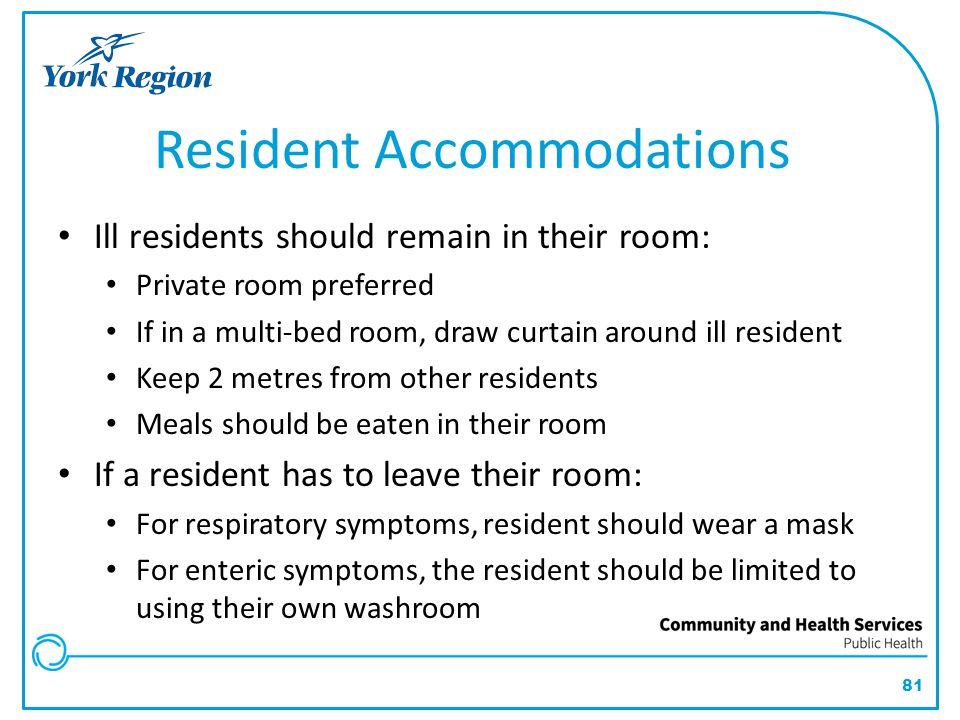 Resident Accommodations