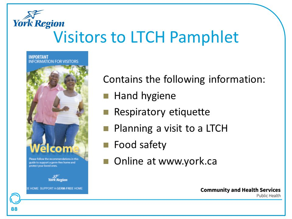 Visitors to LTCH Pamphlet