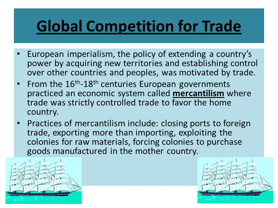 Global Competition for Trade