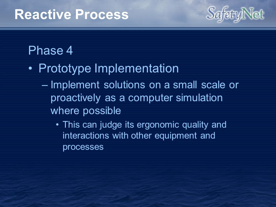 Reactive Process Phase 4 Prototype Implementation
