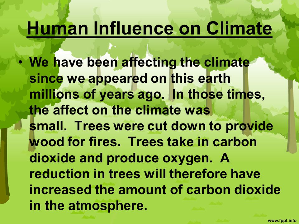 Human Influence on Climate