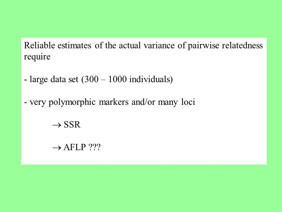 Reliable estimates of the actual variance of pairwise relatedness