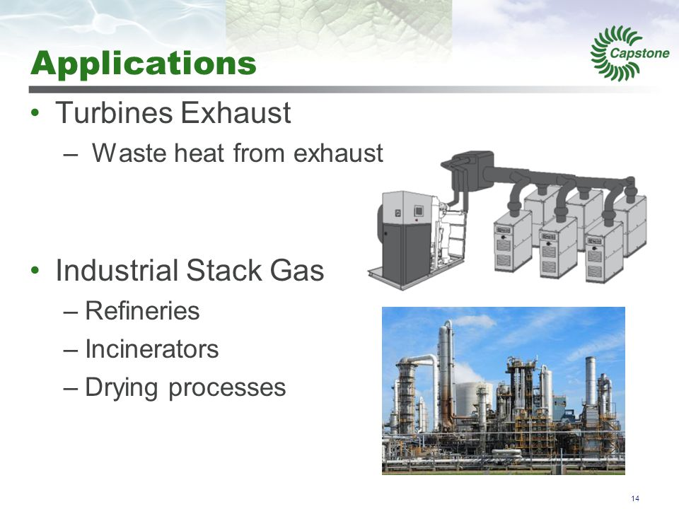 Applications Geothermal Solar Thermal Water or Steam