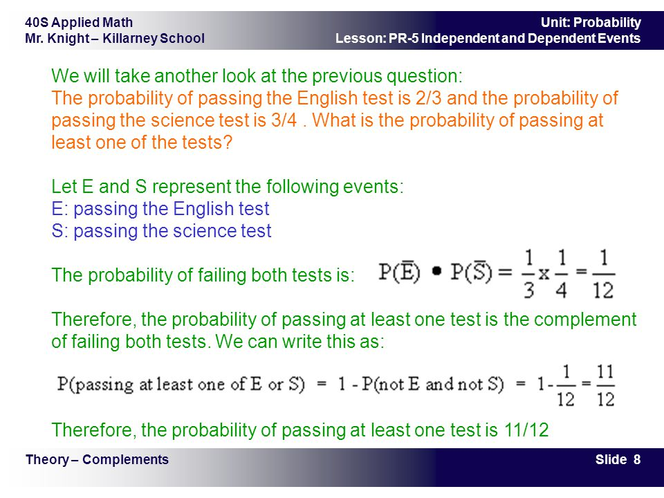 Therefore, the probability of passing at least one test is 11/12