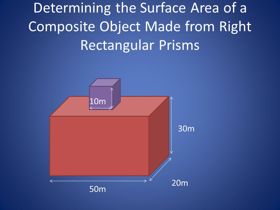 Determining the Surface Area of a Composite Object Made from Right Rectangular Prisms