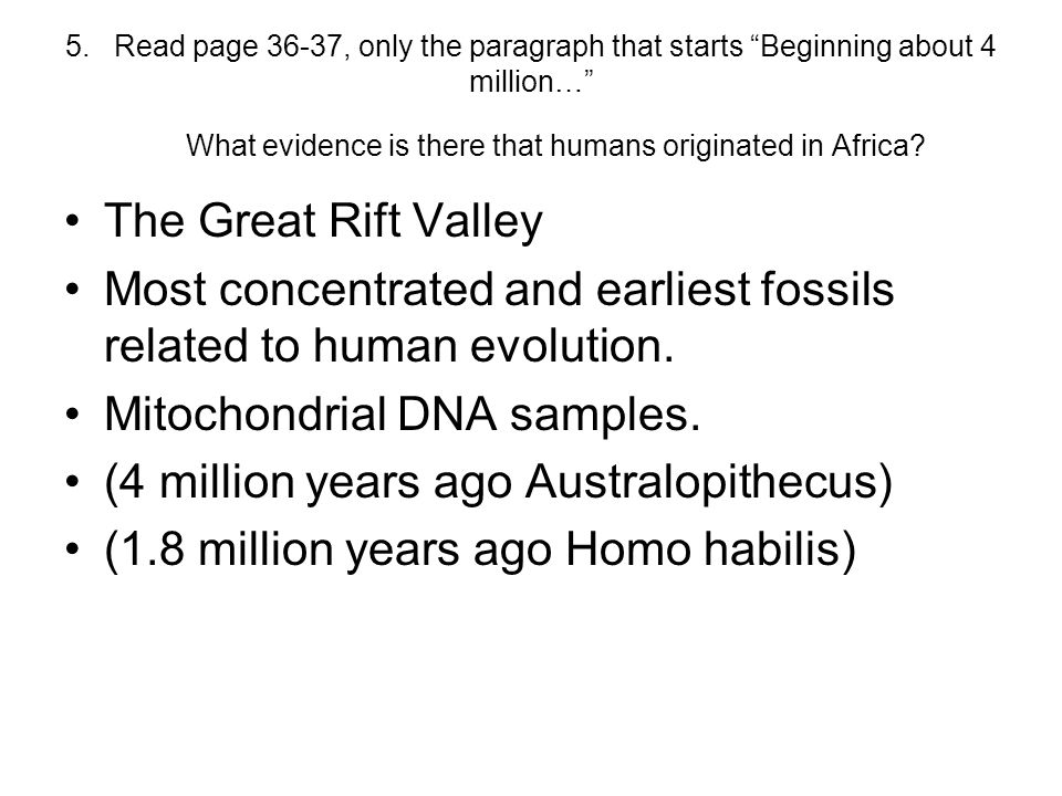 Most concentrated and earliest fossils related to human evolution.