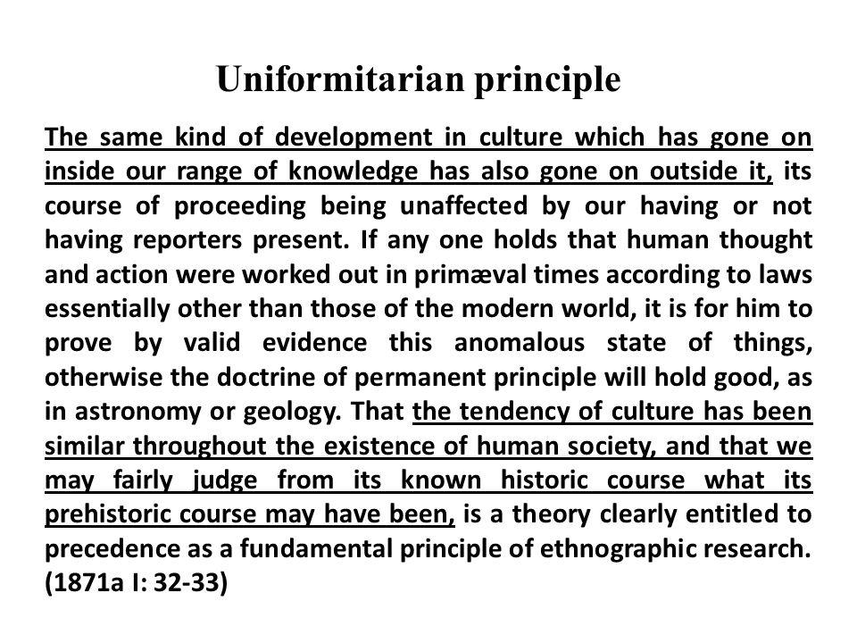Uniformitarian principle