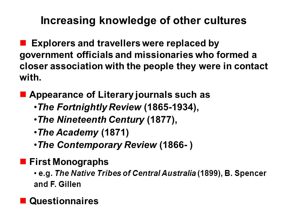 Increasing knowledge of other cultures