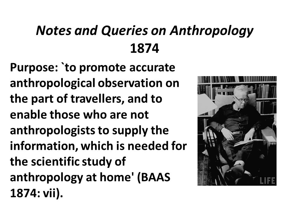 Notes and Queries on Anthropology 1874