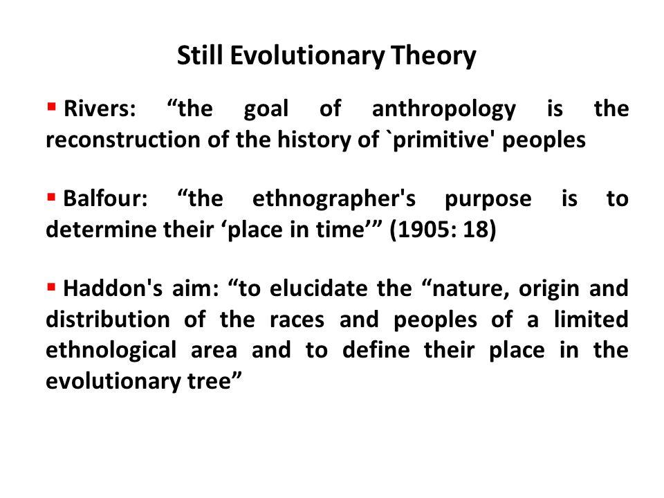 Still Evolutionary Theory