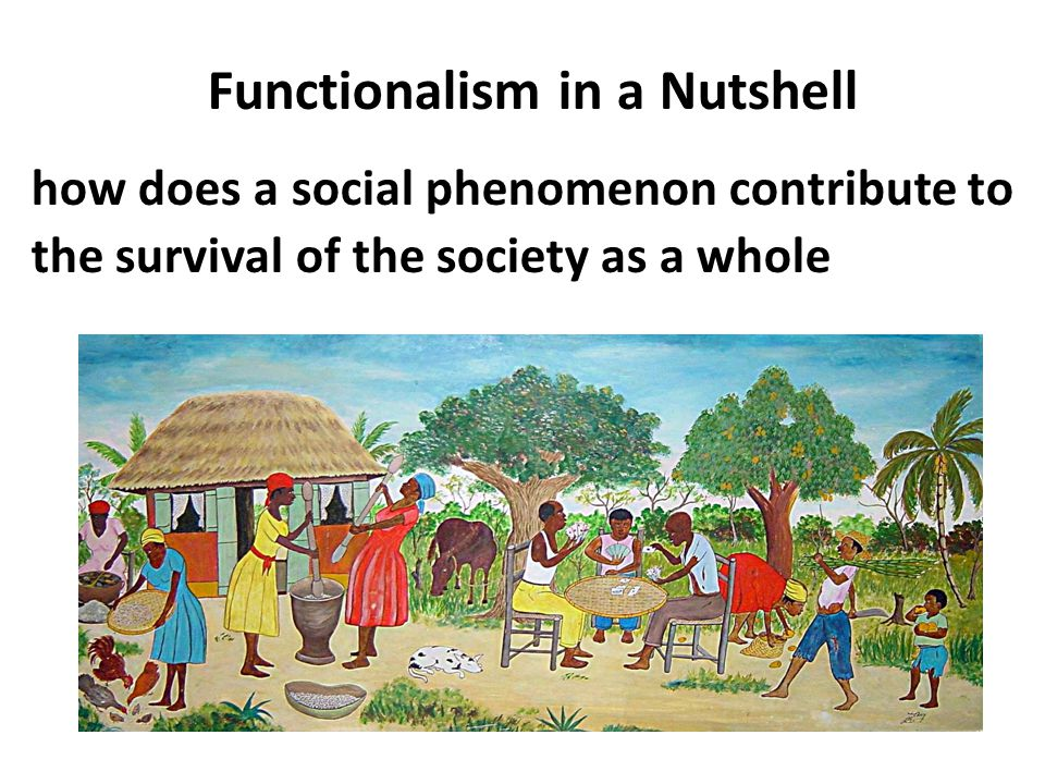 Functionalism in a Nutshell
