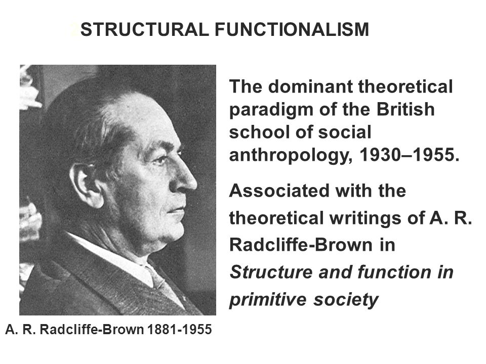 2STRUCTURAL FUNCTIONALISM