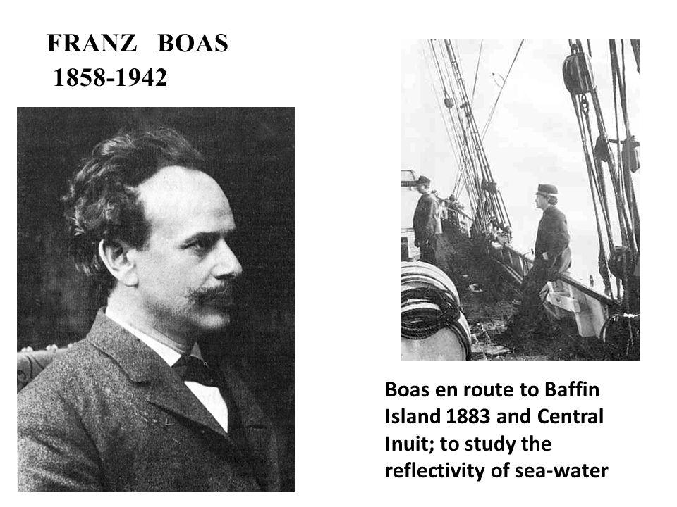 FRANZ BOAS 1858-1942.