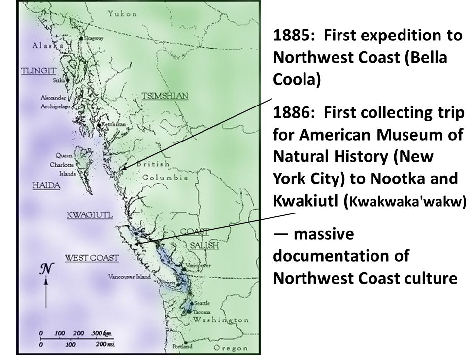 1885: First expedition to Northwest Coast (Bella Coola)