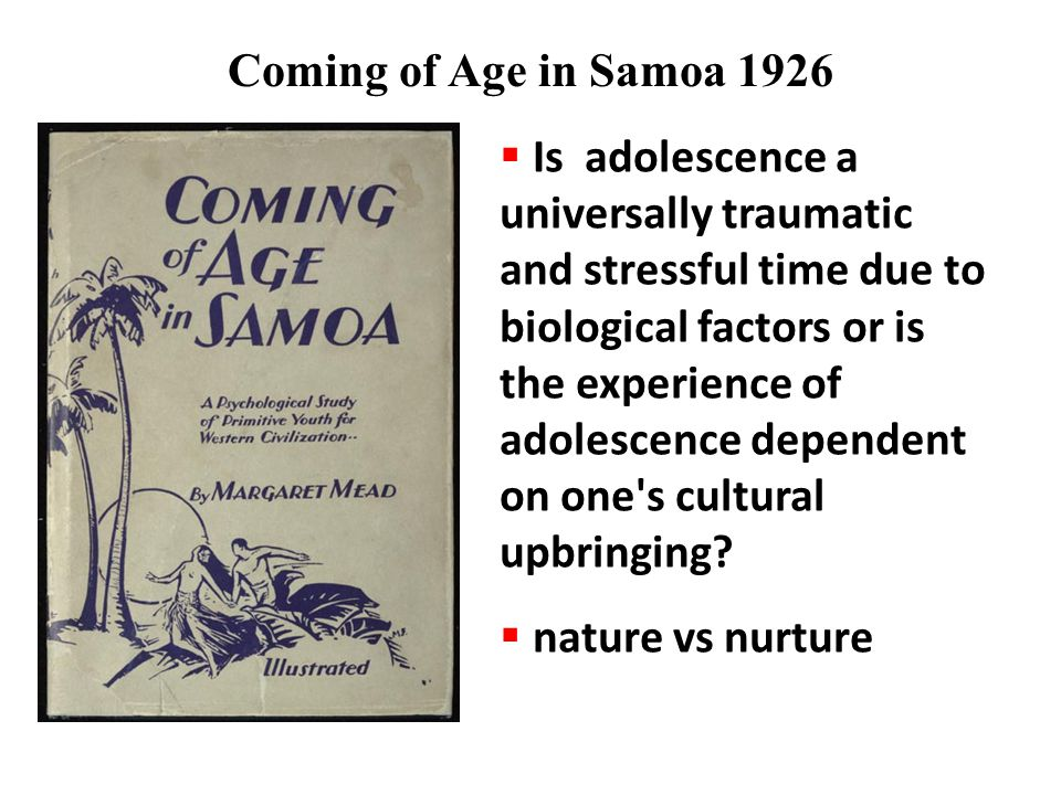 Coming of Age in Samoa 1926