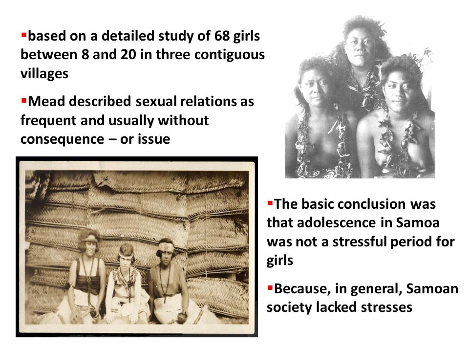 based on a detailed study of 68 girls between 8 and 20 in three contiguous villages