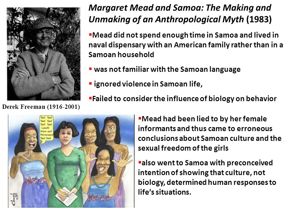 Margaret Mead and Samoa: The Making and Unmaking of an Anthropological Myth (1983)