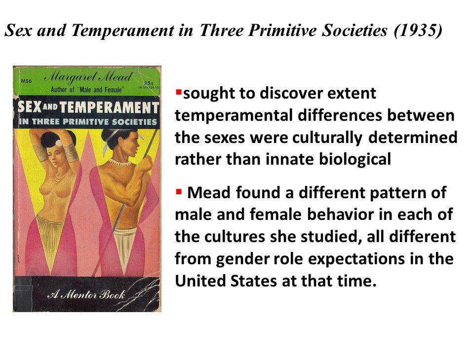 Sex and Temperament in Three Primitive Societies (1935)