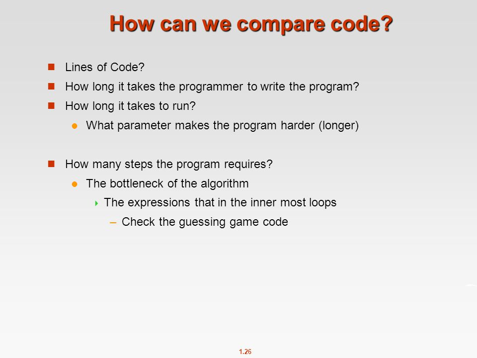 How can we compare code Lines of Code