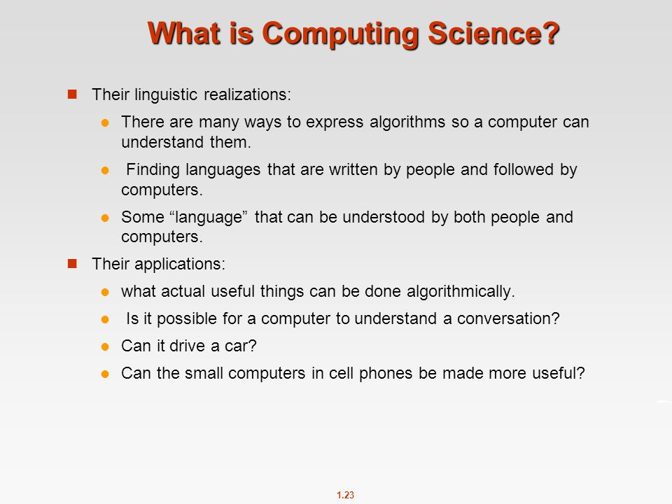 What is Computing Science