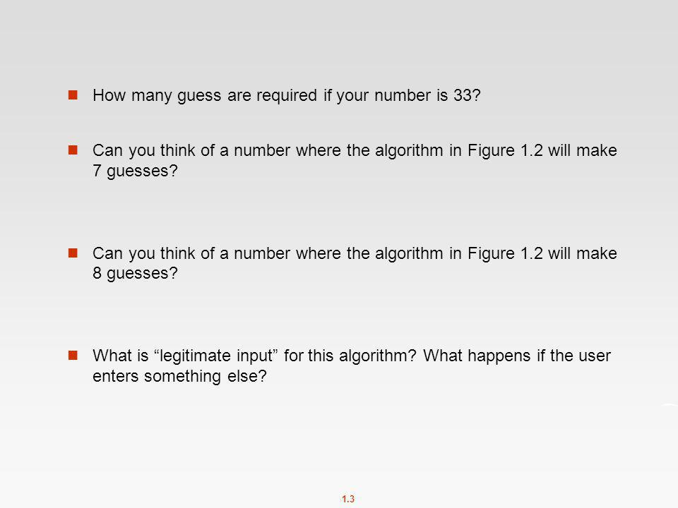 How many guess are required if your number is 33