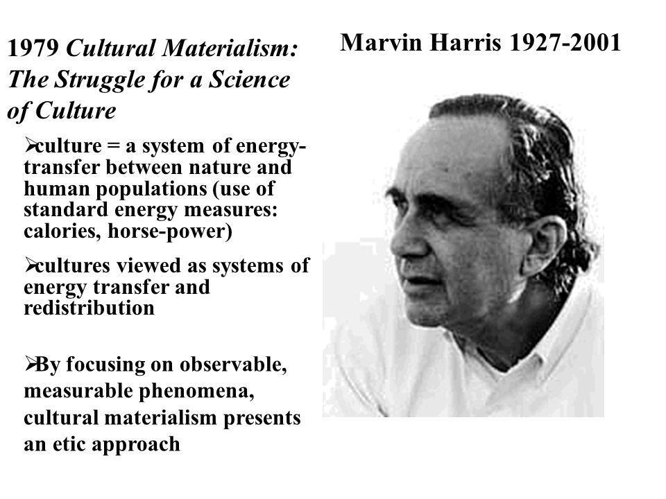 1979 Cultural Materialism: The Struggle for a Science of Culture