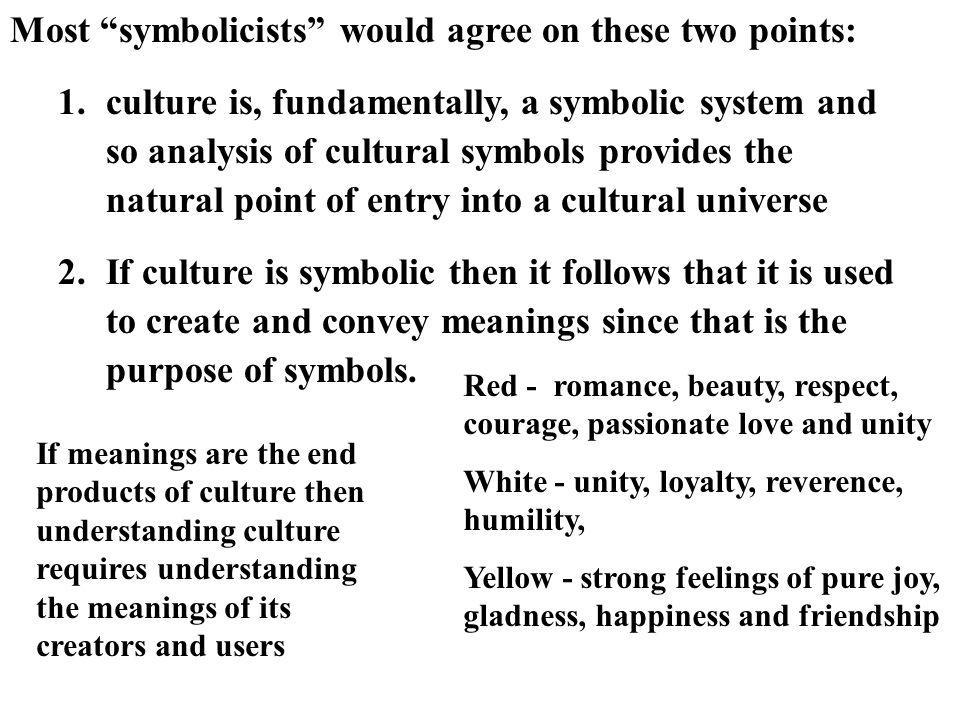 Most symbolicists would agree on these two points: