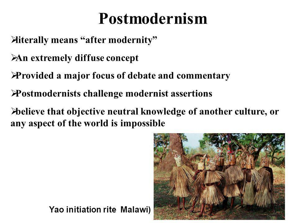 Postmodernism literally means after modernity