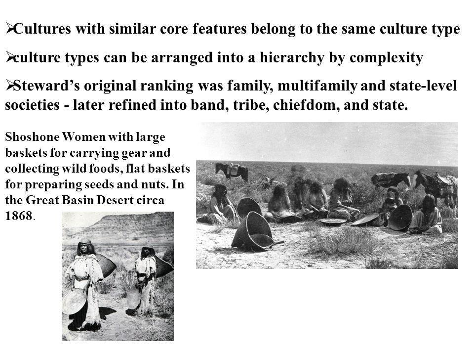 Cultures with similar core features belong to the same culture type