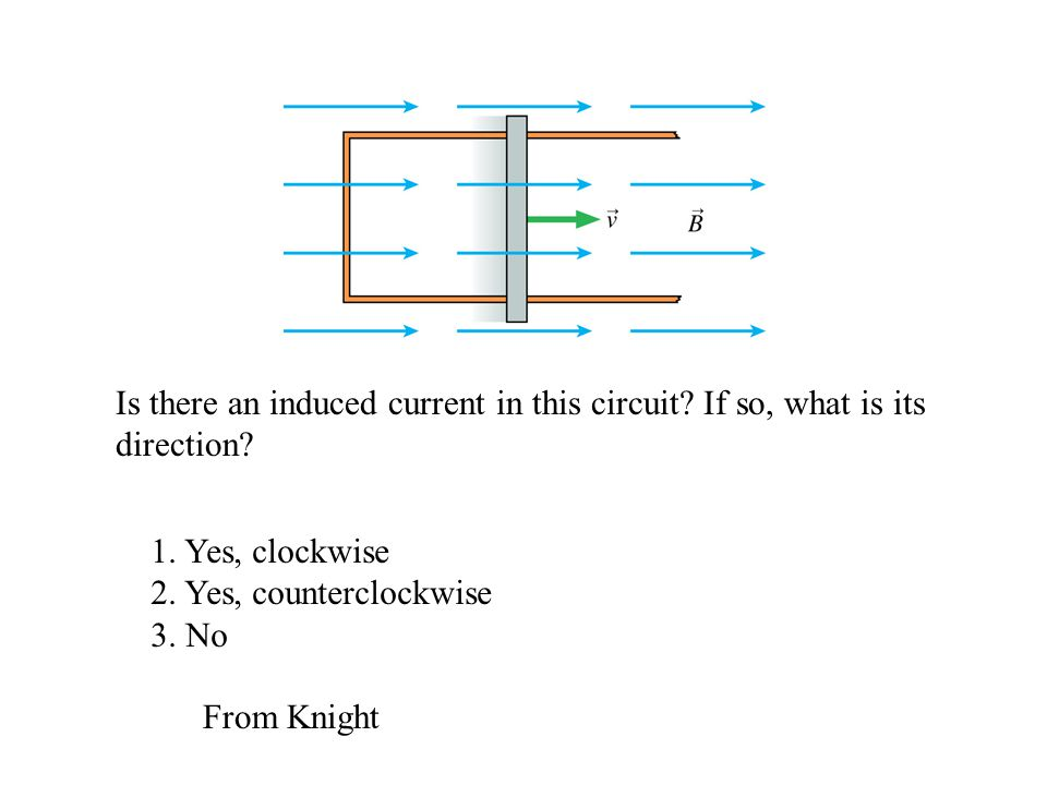 Is there an induced current in this circuit