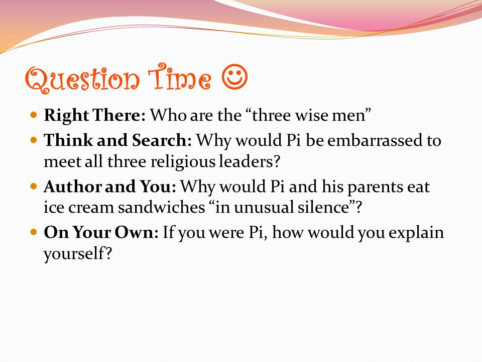 Question Time  Right There: Who are the three wise men
