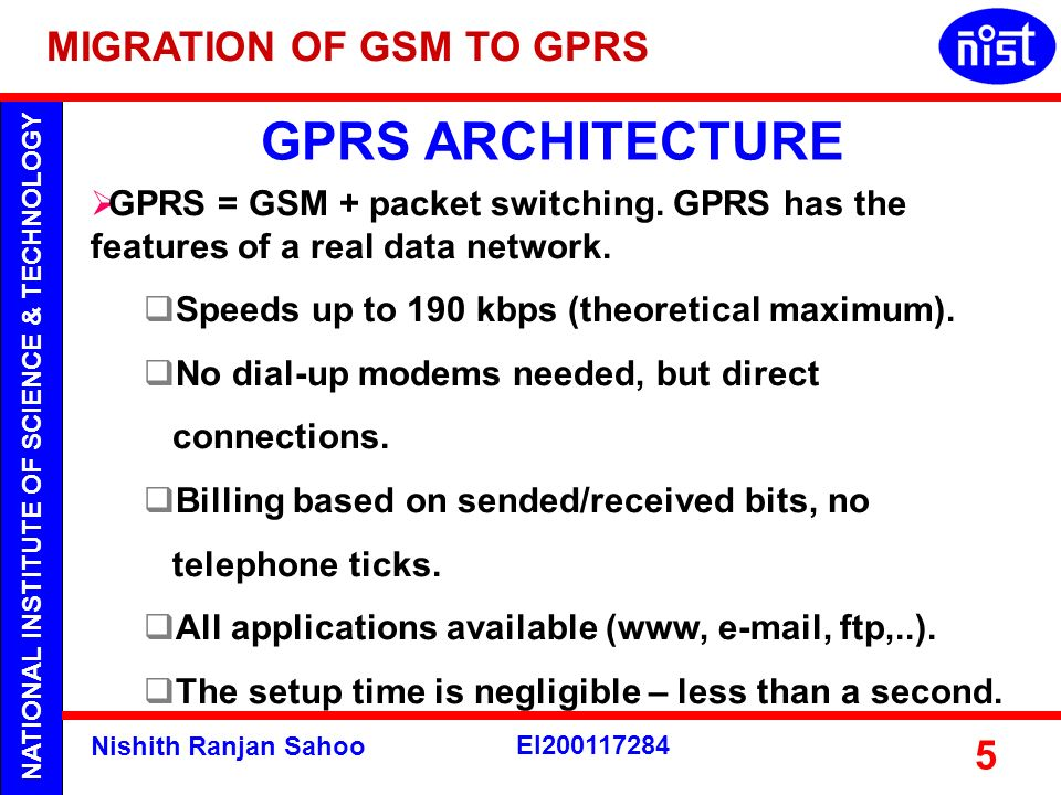GPRS ARCHITECTURE MIGRATION OF GSM TO GPRS