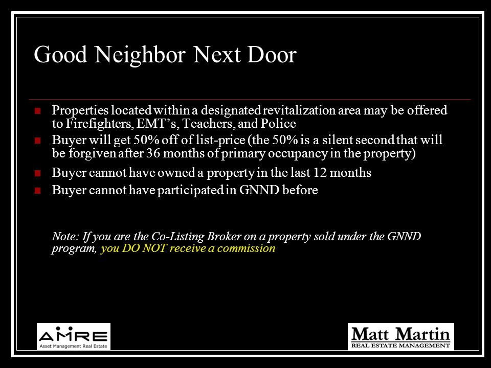Good Neighbor Next Door