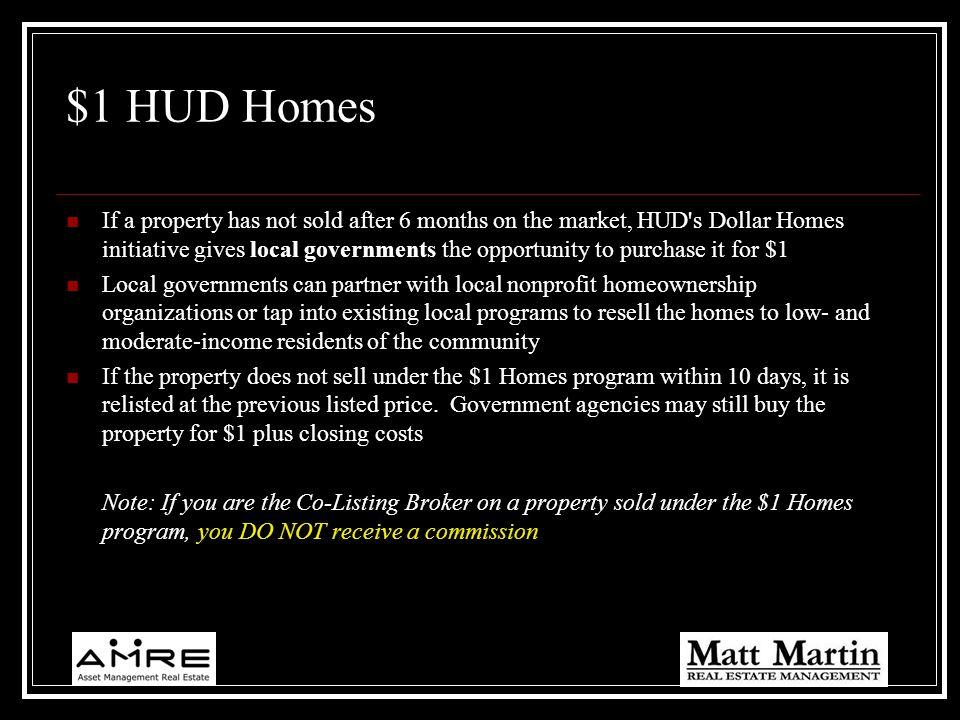 $1 HUD Homes