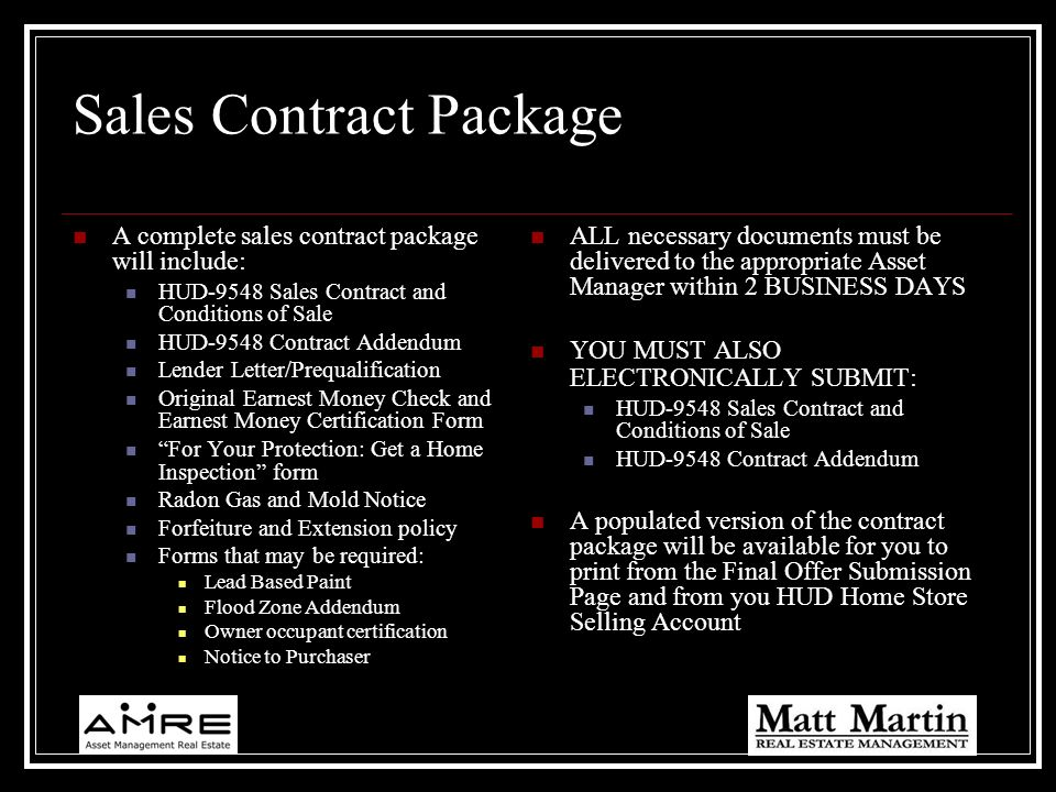 Sales Contract Package
