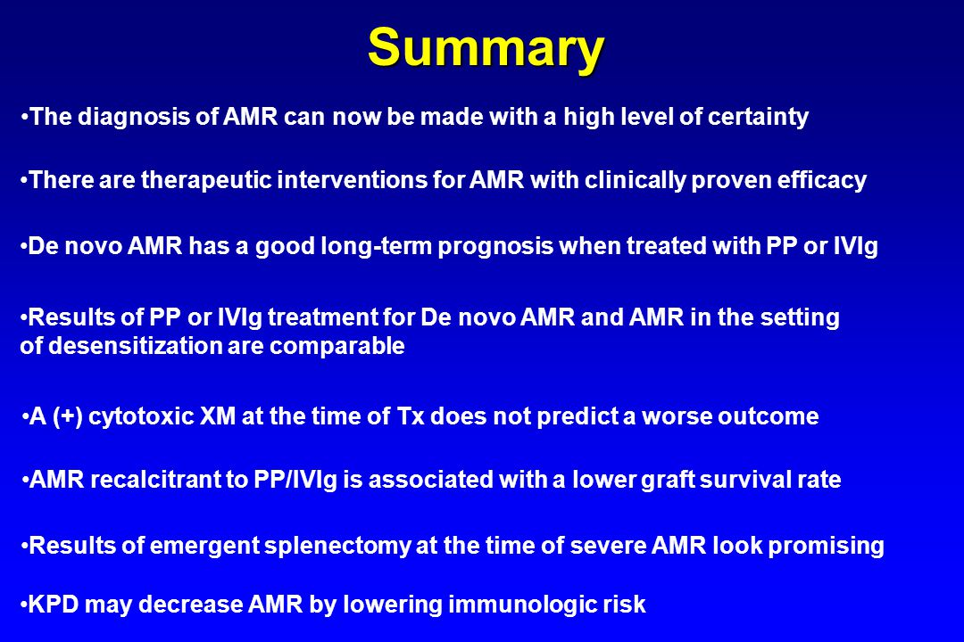 Summary The diagnosis of AMR can now be made with a high level of certainty.