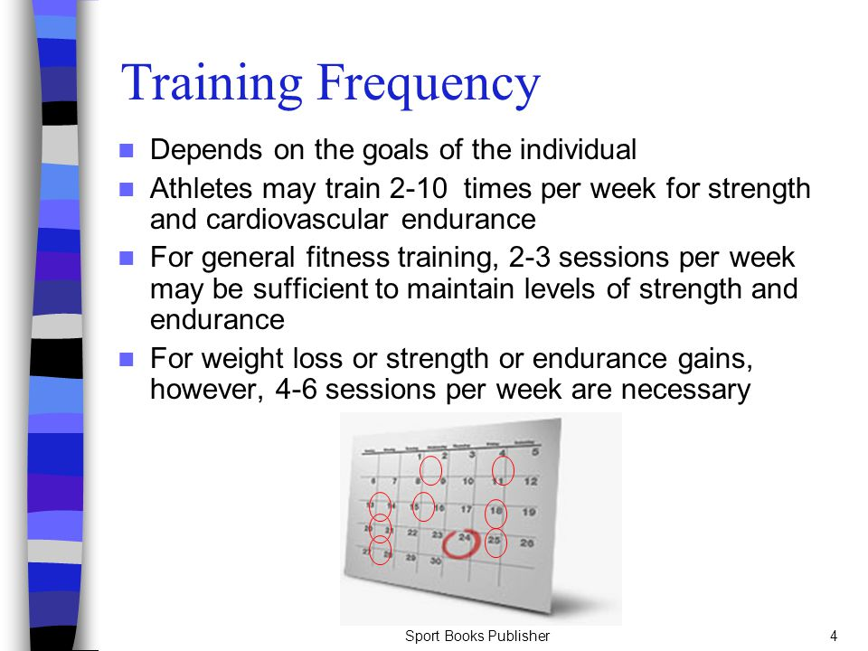 Training Frequency Depends on the goals of the individual