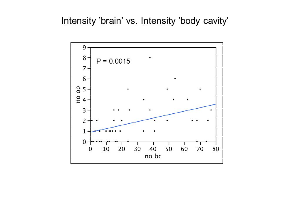 Intensity 'brain' vs. Intensity 'body cavity'