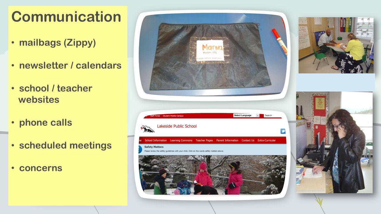 Communication mailbags (Zippy) newsletter / calendars school / teacher